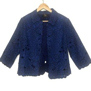 Trenz Theresa Renz Floral Embroidered Jacket